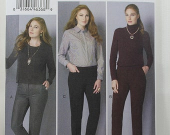 Vogue 9155, Misses' Pants Sewing Pattern, Easy Pants Sewing Pattern, Misses' Patterns, Misses' Size 12, 14, 16, 18, 20, New and Uncut