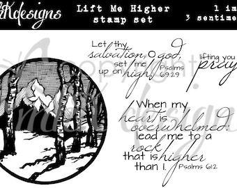Lift Me Higher Digital Stamp Set