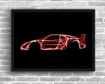 Ferrari F40 Art Wall Art Classic Car Man Cave Gift For Him Automotive Art Car Art Home Decor Ferrari F40 Décor Ferrari poster Ferrari  Print