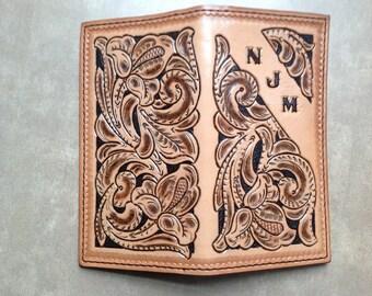 Long Wallet, Checkbook, Roper Wallet, Handmade in USA