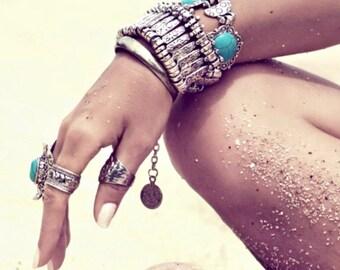 Istanbul silver Cuff Bracelet / / / Bohemian gypsy ethnic boho