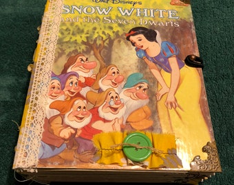 Little golden book Snow White junk journal