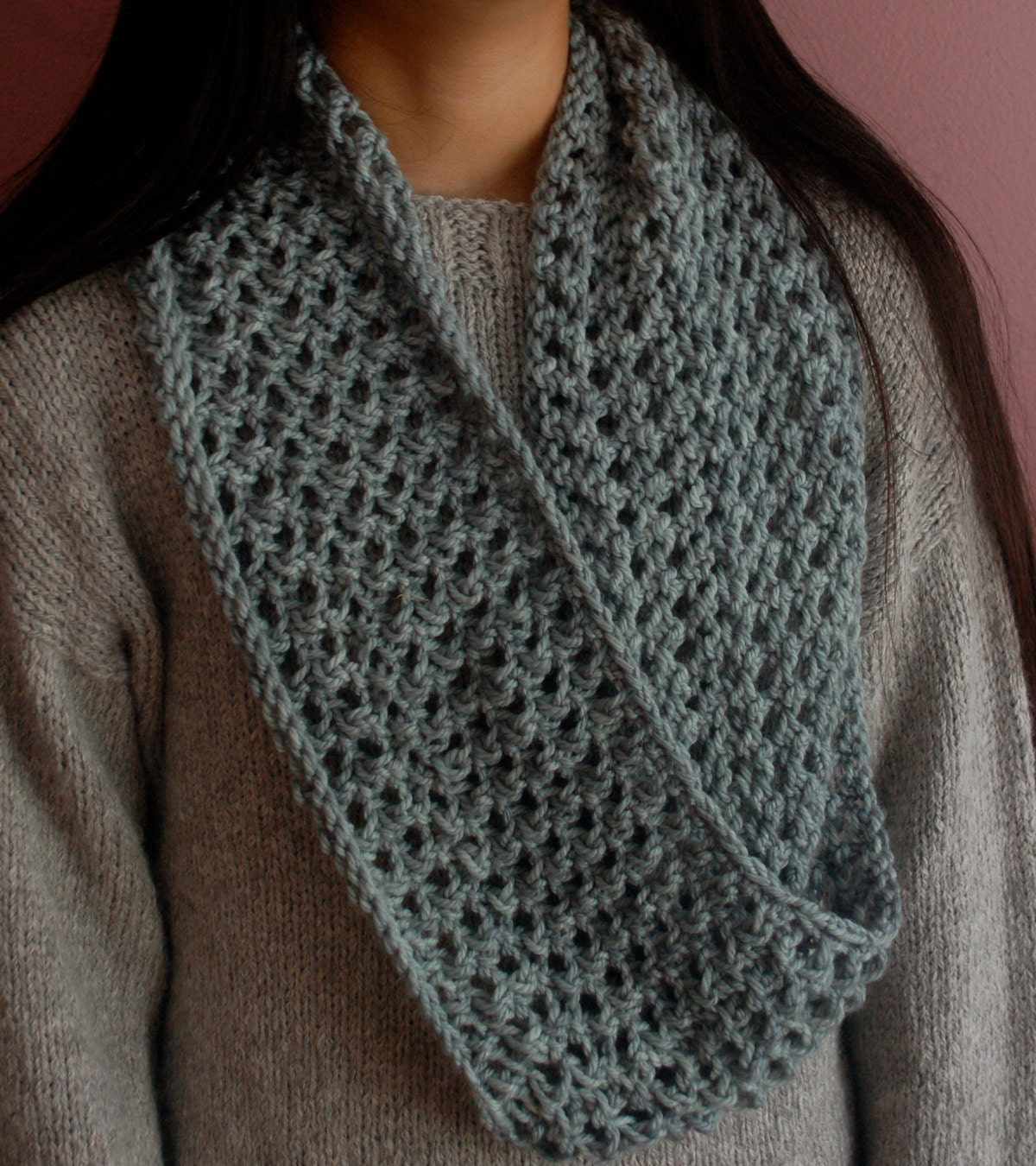 Ring Around the Collar, Knit Infinity Scarf Knitting Pattern ...