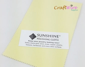 "Sunshine Polishing 7 1/2"" X 5"" Cloth, Non-Scratch Sunshine Cloth, Jewelry Cleaner, Tarnish Remover, for Gold, Sterling Silver Brass"