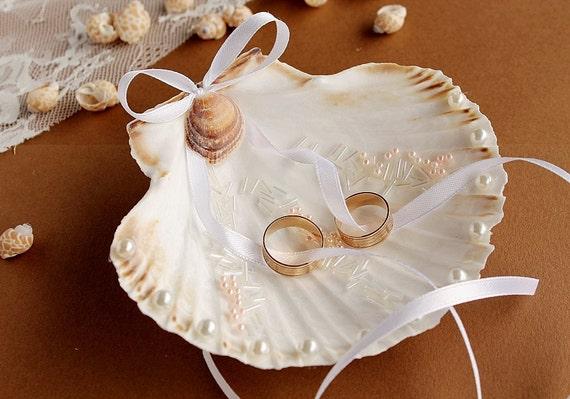 Beach Ring Bearer Seashell Ring Holder Exotic Ring Bearer
