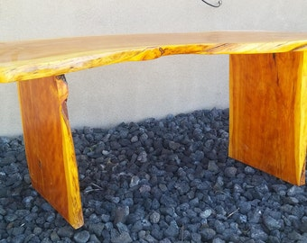 Stump slab table