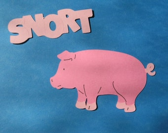 pig diecut with saying