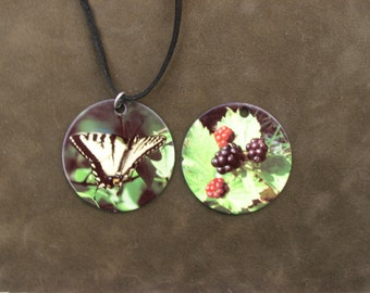 Butterfly and Berries Necklace