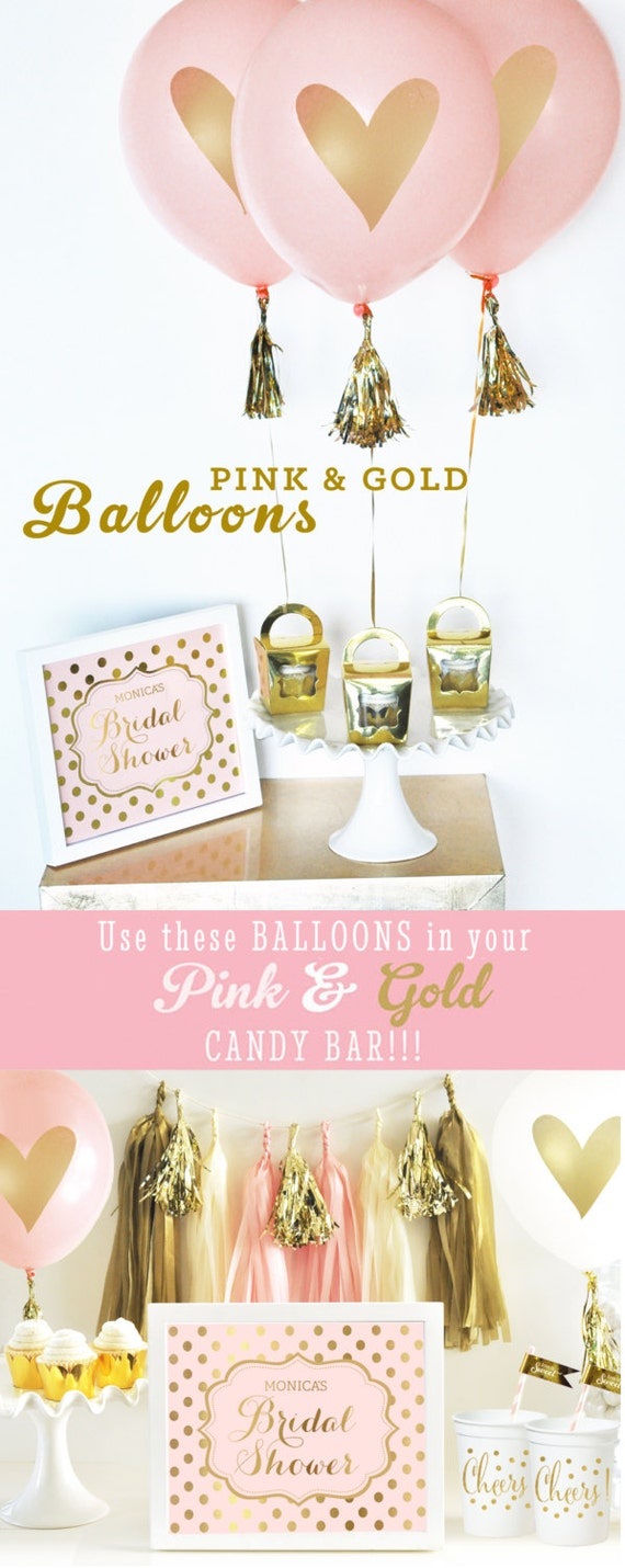 Bridal Shower Decorations - Pink and Gold Bridal Shower Decor ...