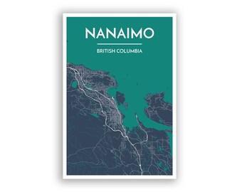 Nanaimo map Etsy