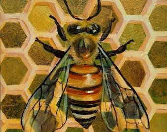 Golden Honeybee Card Set