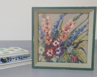 Vintage Floral Bouquet Framed Artwork
