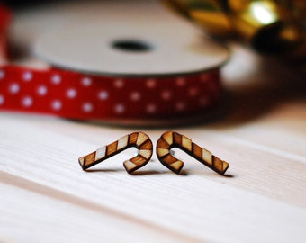 Christmas Stud Earrings - Candy Cane Earrings - Christmas earrings
