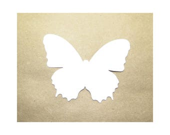 Cardstock Butterfly, Paper Butterfly, White Butterfly, Butterfly Shape, Butterfly Die Cut, Butterfly Gift Tag, Butterfly Card