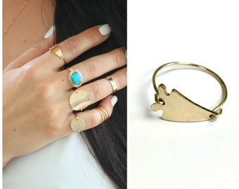 Arrowhead Ring, Gift for her, The Silver Wren, Boho Jewelry, Stacking ring, Midi Ring, 14kt Gold Filled Ring, Valentines