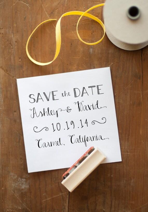 Save the Date stamp custom wedding stamp, save the date, wedding stamp, wedding stationery, rubber stamp, wedding invitation stamp, favor