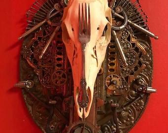 Deer Skull Wall Hanging (OOAK)
