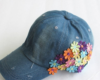 Embellished Baseball Cap-Women's Cap-Baseball Cap-Fashion Cap-Steam punk Hat.