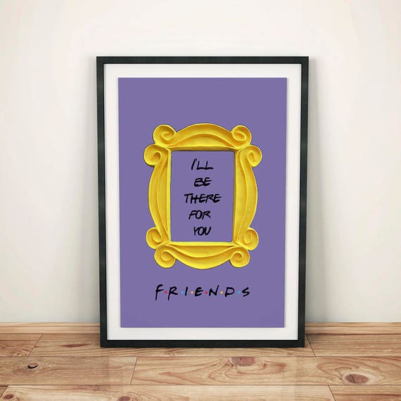 FRIENDS tv show printable poster friends peephole frame