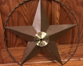 Rustic Star Clock