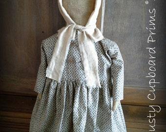 Laura~ Prim Prairie Doll sewing epattern everyday doll
