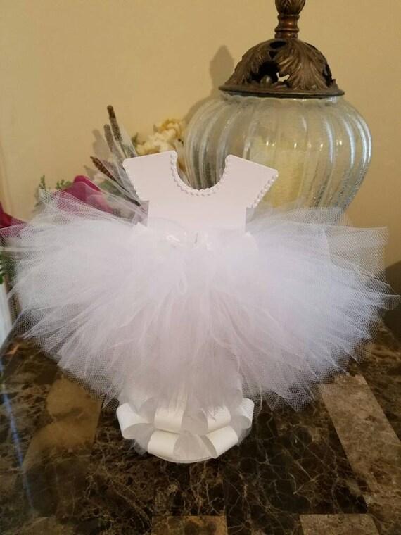 Double Sided White Tutu Dress Centerpiece Ballerina Baby