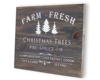 Christmas Sign, Christmas Decoration, Christmas Decor, Wood Christmas Sign, Holiday Sign, Rustic Christmas, Christmas Farm Sign