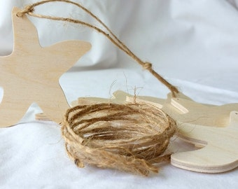 Wooden Starfish, Ornament, DIY party favor, set of 6, Unfinished, holiday decoration, nautical, beach silhouette shape, party favor