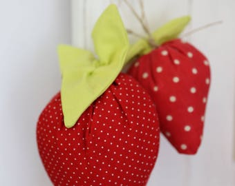 Set of 2 Strawberry scented