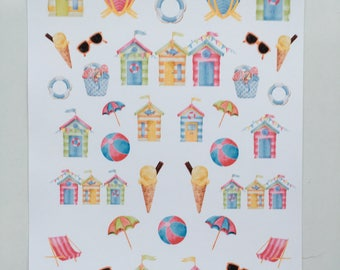 Beach Days Decorative Stickers