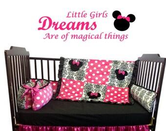 minnie mouse nursery, minnie mouse decor, minnie mouse wall art, disney decor, disney nursery, baby girl nursery, baby girl decor, nursery