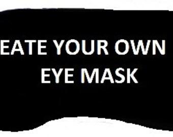 Embroidered Eye Mask, Sleep Mask, Sleeping, Kid Mask, Adult Mask, Cute Mask, Sleep, Slumber Mask, Pirate Design, Handmade, Custom, Eye Shade