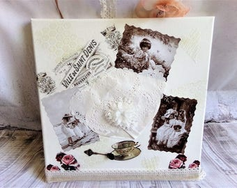 """Table home decor shabby chic """"a cup of tea"""""""