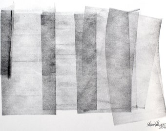 not distracted Nr. 4 - Original Painting - Ink on paper - 210 x 297 mm