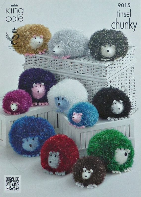 Knitted Toy Pattern K9015 Small Medium & Large Hedgehog Soft