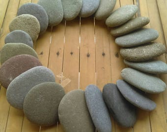 Beach Stone Pebbles, 20 Pieces from the Irish Coast