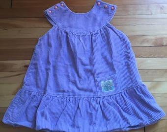 Vintage 1980s Girls Purple Corduroy Jumper Dress! Size 5