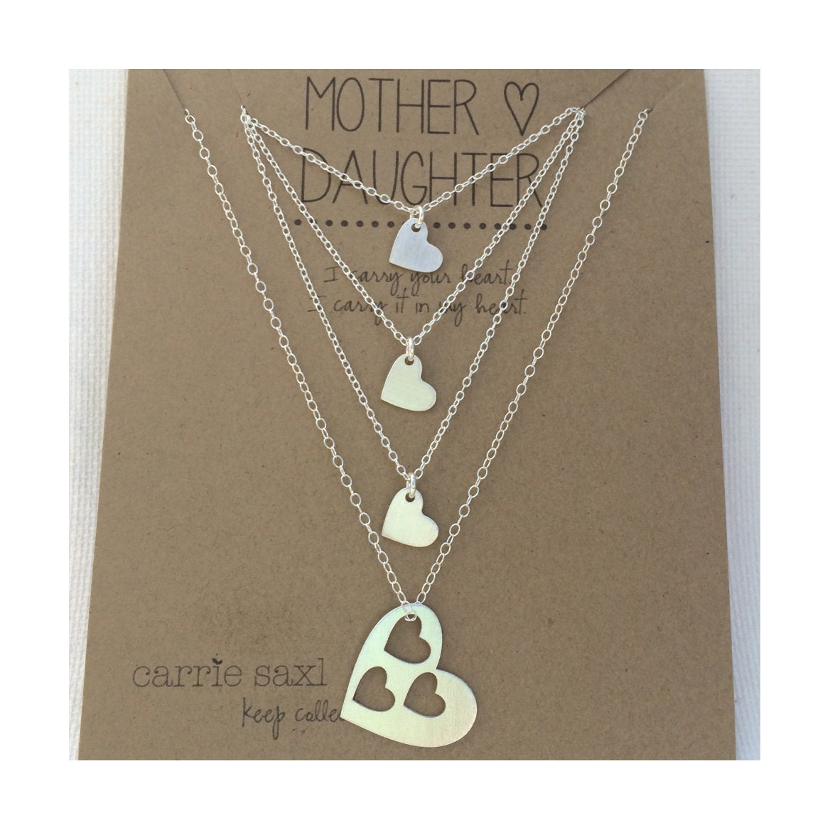 Mother daughter necklace set mother 3 daughters silver zoom aloadofball Gallery