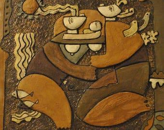 Unique Handmade Tile Perignem - Amphora