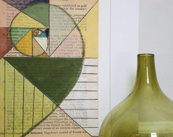 Golden Mean in Green - Fine Art Giclee Print