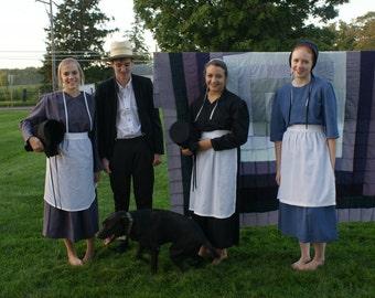 Amish Handmade Apron White Tie Apron