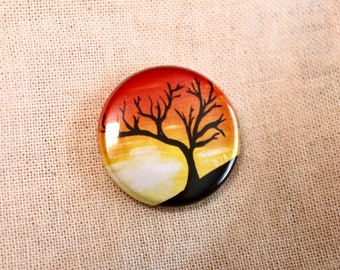 Tree And Sunset Badge