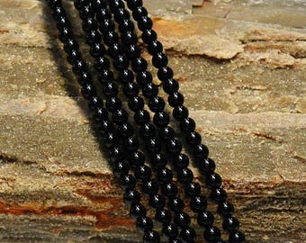 Black Onyx Round Beads, 4mm, 6mm, 8mm, 10mm, 12mm, Strand Price