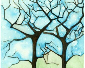 "Quietude II Original 6""x 9"" watercolor painting"