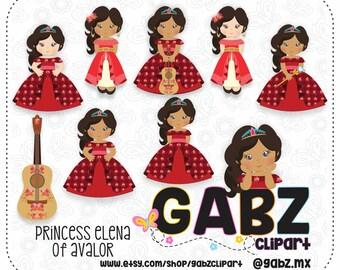Princess Elena of Avalor, Clipart, Digital Paper, Girls, Tangled, Princess, Birthday, Gabz