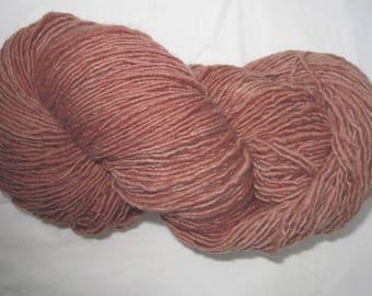 """Plain& Fancy Hand Dyed Fine Wool Yarn """"Rust"""" Colorway"""
