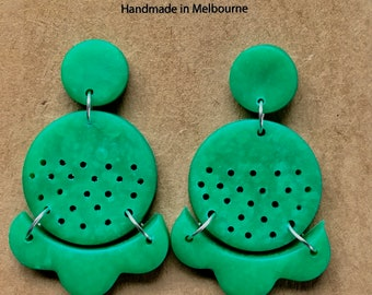 Polymer Clay Earrings - Large Dangles