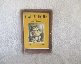 Vintage Hardcover Owl At Home Childrens Book