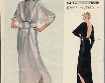 40% OFF 1970's Designer Evening Top and Skirt Pattern with Plunging Back  VOGUE 2075  American Designer Original John Anthony