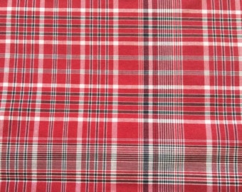 4 Yards Traditional Jamaican Bandana Plaid Fabric, Continuous Yards, Jamaica, Independence Outfit, International Day